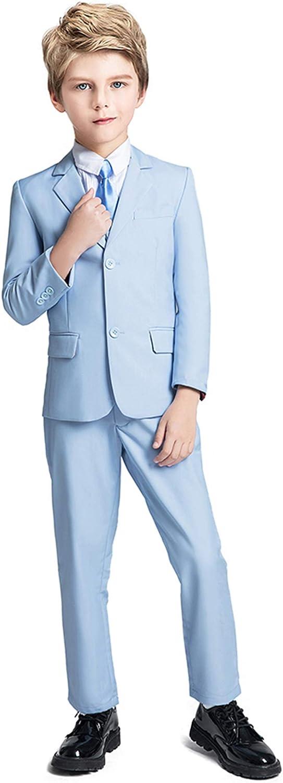 Fersumm Boys Suit 5 Piece Kids Tuxedo Time sale and Party Pant Vest Blazer Outlet SALE