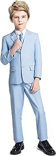 طقم ملابس الأطفال Fersumm للأولاد 5 قطع من سترة سهرة وبنطلون مع ربطة عنق للأولاد الرسمية