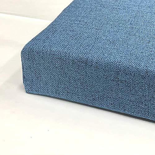 Cojín grueso para asiento de silla, cojín de banco, para interior y exterior, cojín rectangular para muebles de 2/3/4 plazas, extraíble y lavable.