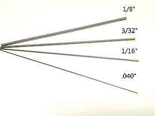 WeldingCity 4-pcs TIG Welding Tungsten Electrodes 1.5% Lanthanated (Gold) Assorted Diameter 040
