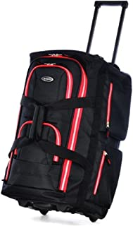 22 Inch Rolling Duffel, Black/Red