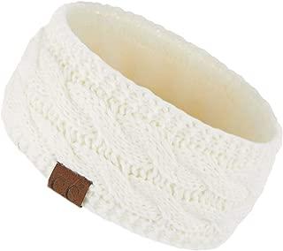 C.C Winter Fuzzy Fleece Lined Thick Knitted Headband Headwrap Earwarmer(HW-20)(HW-33)