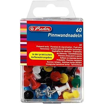 100pcs Pin Wand Nadeln bunt gemischt für Pinwand Push Pins farbig Stoß LQO