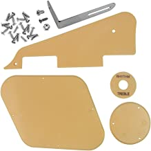IKN 1set Cream Pickguard/Cavity/Switch Covers/Pickup Selector Plate/Bracket/Screws Fit Les Paul Style Guitar Replacement