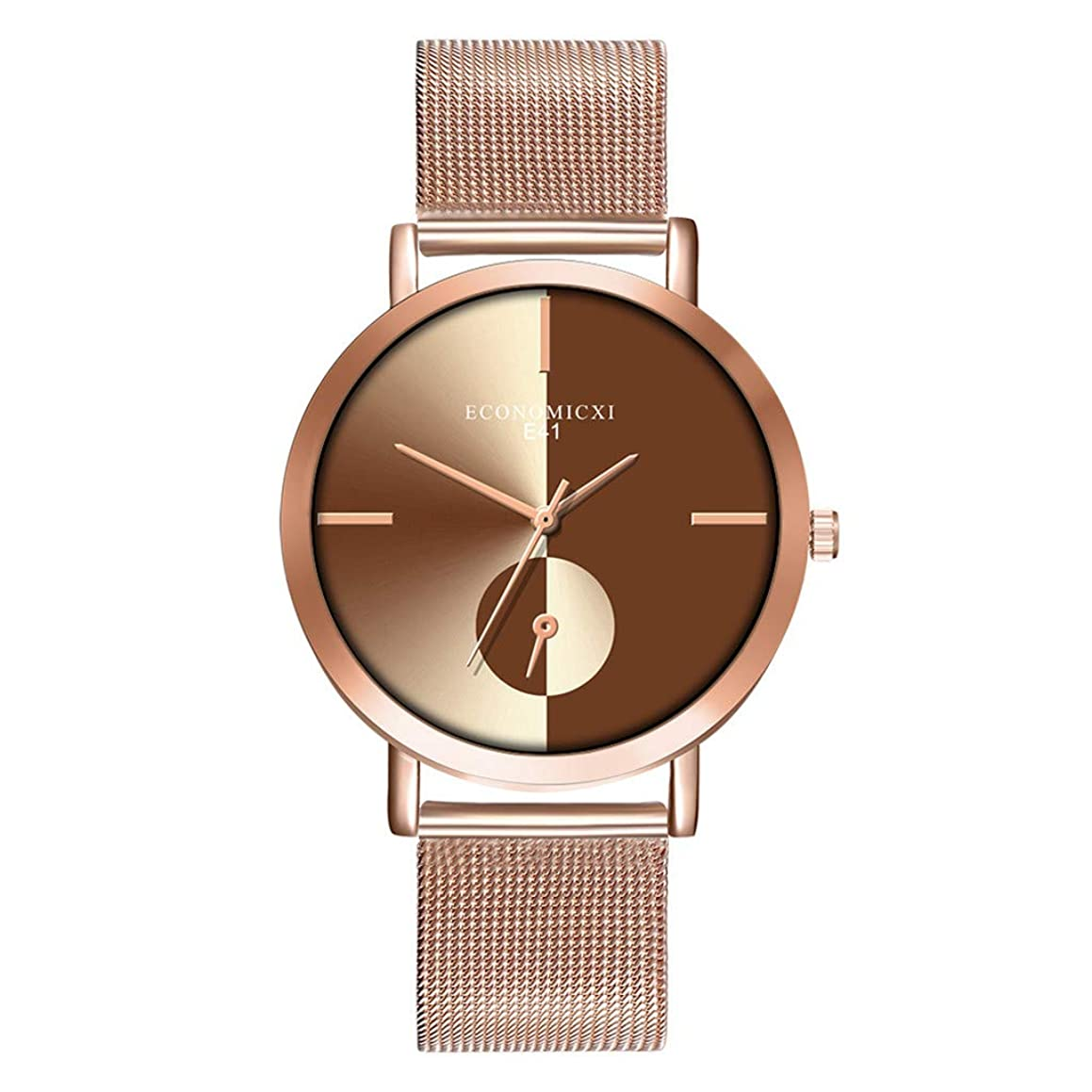 Sacow Women Watch, Rose Gold Women Watch Business Quartz Watch Ladies (Coffee)