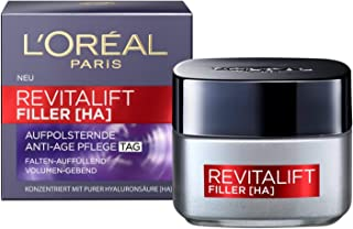 L'Oréal Paris Hyaluron Day Cream, Revitalift Filler, Anti-Ageing Face Care, Anti-Wrinkle and Volume, with Hyaluronic Acid,...