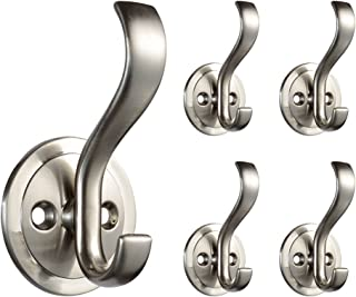 Franklin Brass B42307M-Sn-C Coat and Hat Hook with Round Base, Satin Nickel (5 pack)