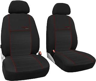 Maßgefertigter Sitzbezuge/Vordersitzbezüge, Modellspezifischer Sitzbezug Fahrersitz + Beifahrersitz Für VW T6 Transporter. Beste Qualität Sitzbezüge im Design TREND LINE (erhältlich in 7 Farben).