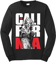Cybertela Men's Tattoo Gangster Marilyn Monroe California Long Sleeve T-Shirt