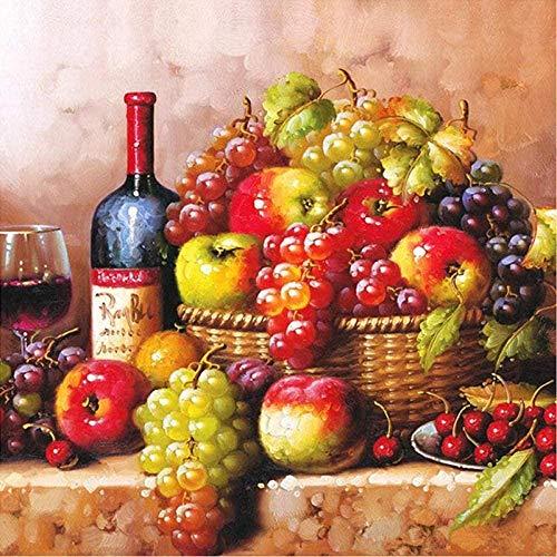 SYKKYS 1000 Stuk Puzzels Puzzel Voor Volwassen Zoete Wijn Fruit Mand Stilleven Voor Volwassenen Tieners Diy Muur Decor