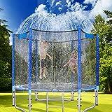 SEEDFORCE Trampolin Sprinkler 12m lang, Trampolin Wassersprinkler Outdoor, Wasserpark für Kinder,...