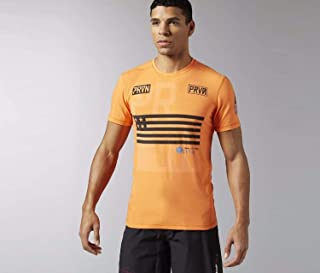 Reebok Mens Crossfit Cool Soul Burnout Tee Shirt Orange