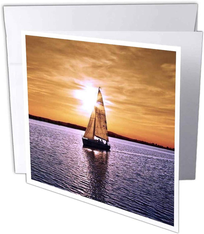 3dRosa gc_23820_1 Grußkarte, Motiv SegelStiefel Sonnenuntergang, 15,2 x x x 15,2 cm, 6 Stück B07B43PPKV | Guter Markt  | Abgabepreis  | Stabile Qualität  356d77