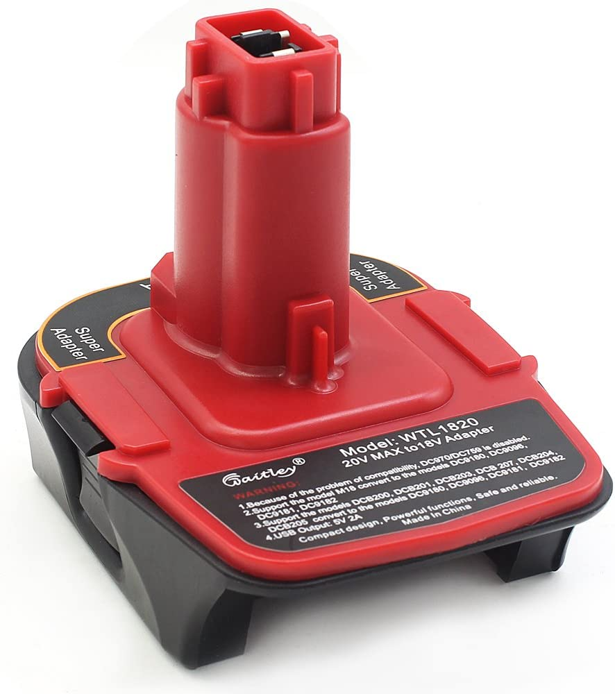 Waitley Don't miss the campaign Battery Adapter for Dewalt Ranking TOP11 wit DCA1820 18V-20V Converter