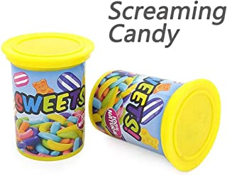 Screaming Candy Jar | Tricky Joke Shocking Toy Ejection Barrel Spoof Prank Gag Funny Toys for Kids and Adults Fool's Day Gift(2 Pack)