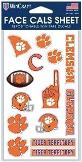 WinCraft Clemson University Tigers Stickerbogen 10,2 x 17,8