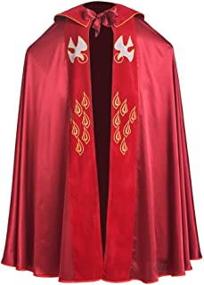 BLESSUME Cope Catholic Church Bishop Vestment Birds IHS Embroidery Cape (Red)