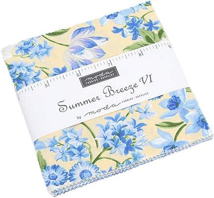 Summer Breeze VI Charm Pack by Moda Classics; 42-5 Inch Precut Fabric Quilt Squares