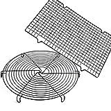 Griglia di Raffreddamento,Zuzer 2pcs Rack di Raffreddamento Antiaderente Torta Griglia Cucina Cremagliera per Arrostire i Cibi Gocciolante Cibi Fritti e Prodotti da Forno