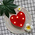 GUOCHENG Heart Marquee Light LED Night Light Decor Battery Operated Table Lamps on Wall for Party Children Kids Bedroom Lighting Decoration, Birthday Christmas Gifts for Kids (Red Heart)