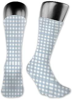 VEVJK Gingham Fabric Baby Blue Fabric Socks,Novelty Cartoon Animal Lovely Cute Socks