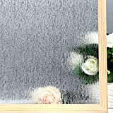 VELIMAX Static Cling Rain Glass Window Film Removable Rain Decorative Window Film Privacy ...