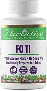 Paradise Fo Ti/He Shou Wu - Prepared Shou Wu Super Concentrated - Hair and Skin Herb - Traditionally Used for Healthy and ...