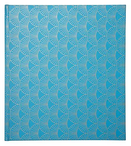 Exacompta 16382E Fotoalbum ARTY mit 30 schwarzen Seiten quadratisch. Perfektes Fotobuch zum selbstgestalten hellblau