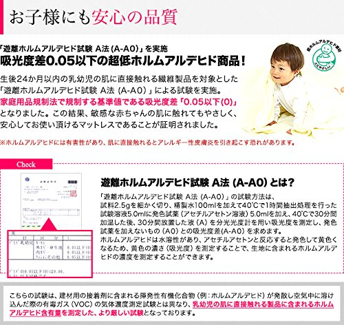 ottostyle.jp高反発マットレス三つ折り10cmシングルブラウン硬さ180ニュートン/硬め(高密度ウレタンフォーム使用)