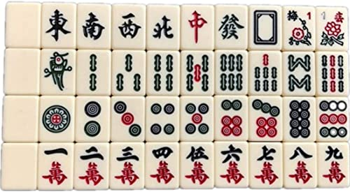 NuoEn Mahjong Mind Game Acrylique Matériel Mind Games Leisure Time Set 30mm ( Couleur   Blanc , Edition   Without Tile Ruler )
