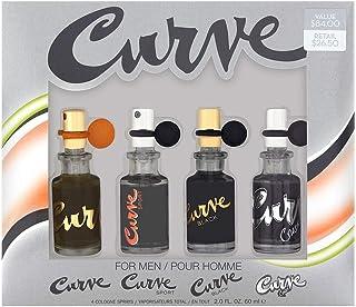 Liz Claiborne Curve 4 Piece Fragrance Collection Coffret for Men