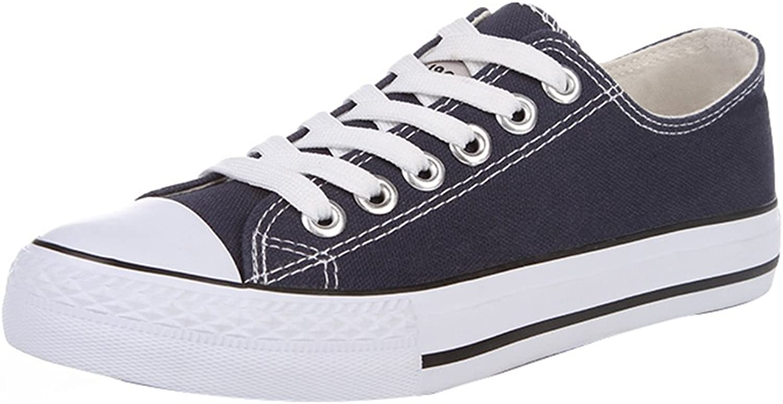 PengTaoHome Low Top Flat shoes Canvas shoes low ventilation board shoes Korean style trend leisure casual cloth shoes (color   bluee, Size   42)