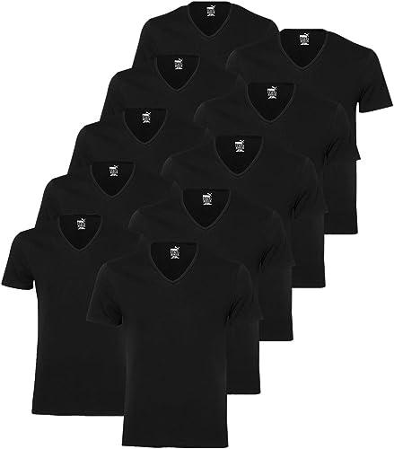 Puma 10 er Pack Basic V Neck T-Shirt Men Herren Unterhemd V-Ausschnitt