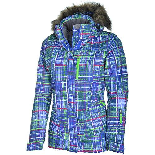 etirel Manuela Kinder Jacke Skijacke Kids Winterjacke Multicolor/Blue, Größe:176