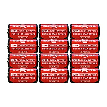 Surefire SF12-BB Box of 12 123A 3 Volt Lithium Batteries 12-Pack SF123A EXP in 2029
