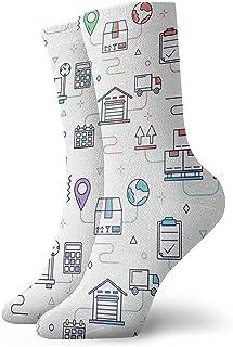 Kevin-Shop, Calcetines Tobilleros de Patrones sin Fisuras de la casa Calcetines Casuales y acogedores para Hombres, Mujeres, niños