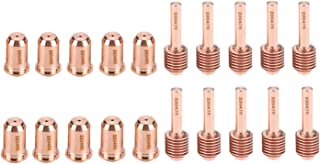 Donwind 10PCS 220478 Plasma Electrodes & 10PCS 220480 Plasma Tips Fit Hypertherm Powermax 45/65/85/105