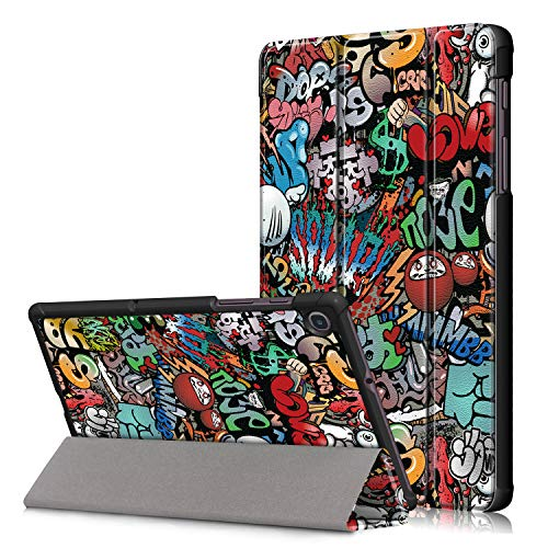 VOVIPO Samsung Galaxy Tab A7 Lite 8.7 Hülle 2021 SM-T225 / SM-T220,schlanke Licht Abdeckung Dreifach ständer Hart Schalen hülle für 8,7 Zoll Galaxy Tab A7 Lite-Graffiti