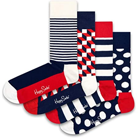 Happy Socks Stripe Gift Box Calcetines (Pack de 4) para Mujer