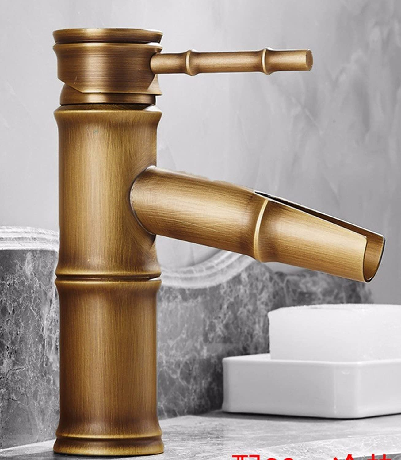 SCLOTHS Bathroom Basin Sink Mixer Tap Faucet Modern retro style copper single hole sink hot and cold