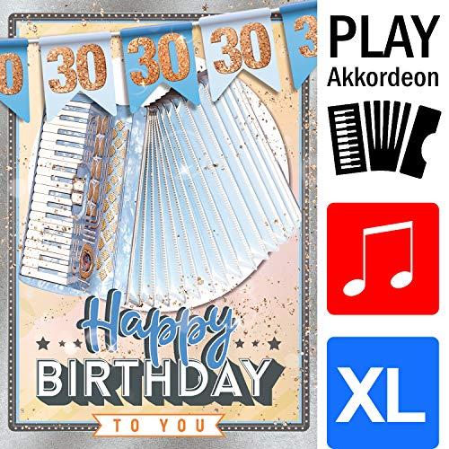 bentino Geburtstagskarte XL mit AKKORDEON-Funktion! Mit der Grußkarte