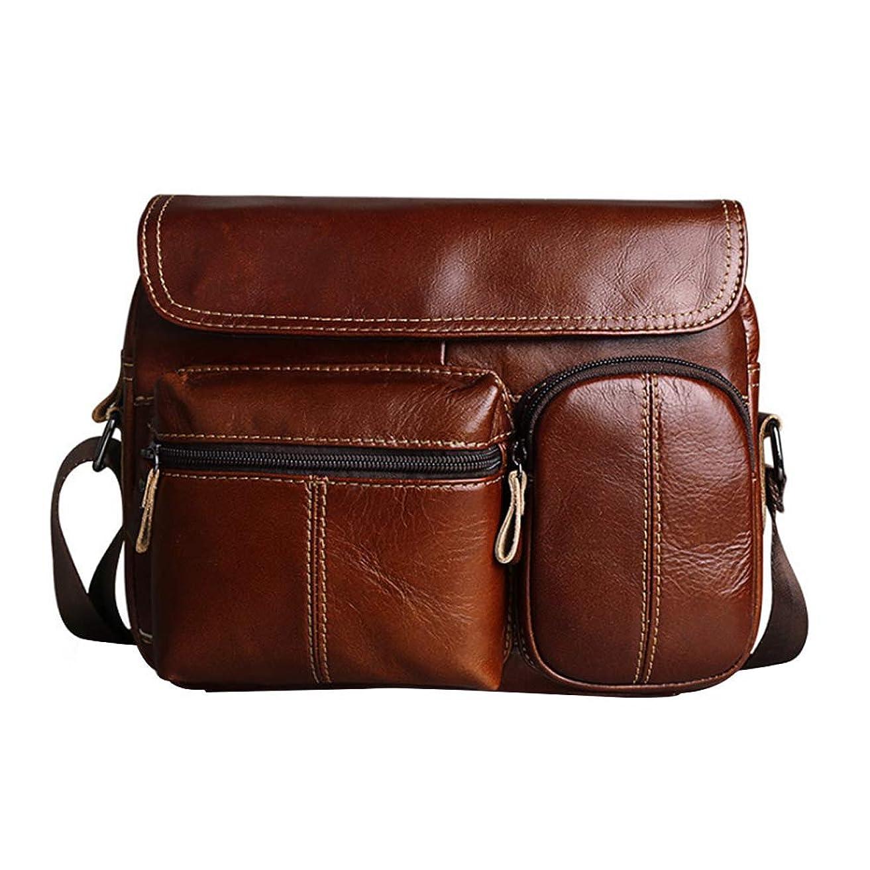 伝染性輝くうがいカジュアル大容量メッセンジャーバッグビジネスバッグ品質ブリーフケースレザー斜め防水バッグ