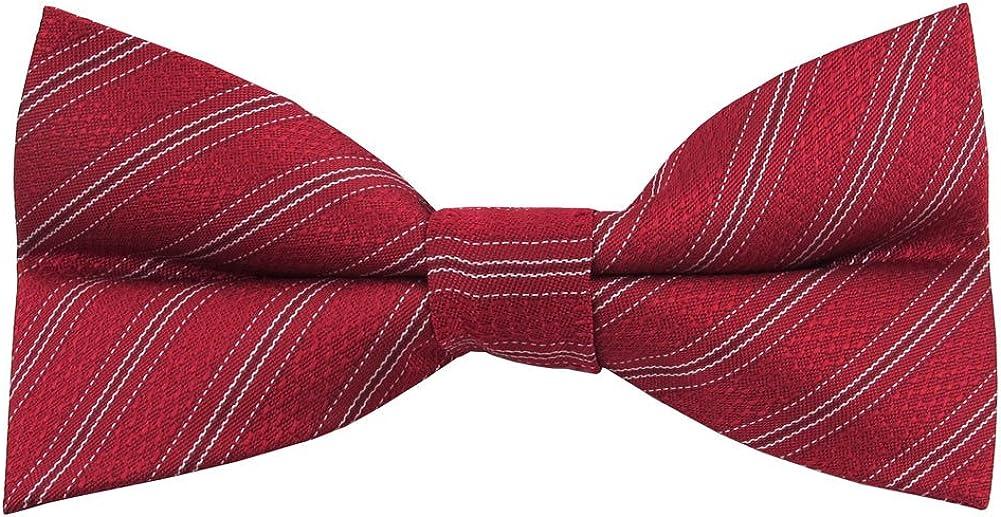 Jacob Alexander Men's Amazing Bow Tie - Red