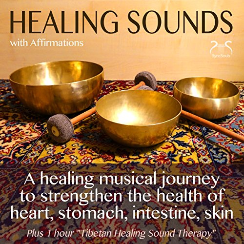 Healing Sounds with Affirmations audiobook cover art