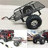 BeesClover DIY simulare RC Crawler Metal Drag rimorchio Supporto rimorchio per 1/10RC Auto D90SCX10CC01TRX-4