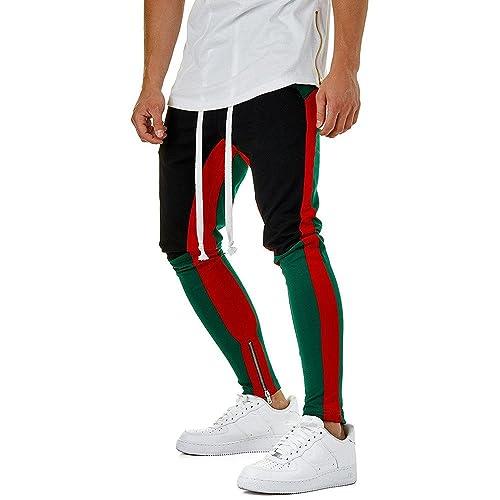 cafc05026b3c Birdfly Men s Unique Patchwork Jogging Running Casual Pencil Pants with  Pocket Trouser Plus Size 2L 3L