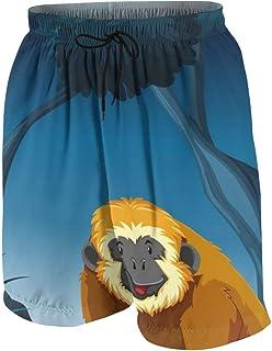 Monochrome Seamless Men's Swim Trunks Summer Teen Beach Pants Quick Dry Board Shorts Bathing Suit