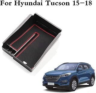 muchkey Car Interior Armrest Storage Box Auto accessories for MU-X 2015 2016 2017 D-MAX ABS Silicone Non-slip Bottom