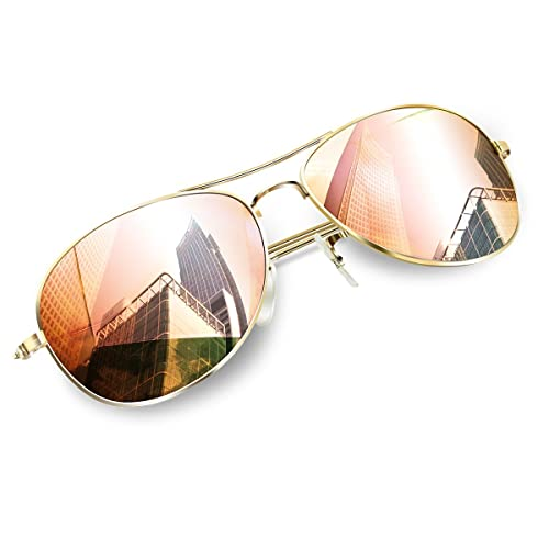 17ad4a474ea0 Small Face Aviator Sunglasses, Shades Women/Men UV Protective Sunglasses by  Wenlenie