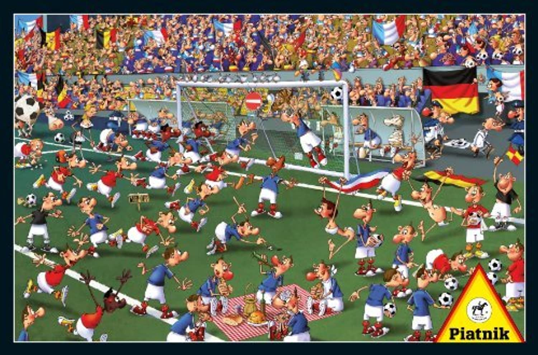 Piatnik Soccer 1000 Piece Cartoon Jigsaw Puzzle by Piatnik